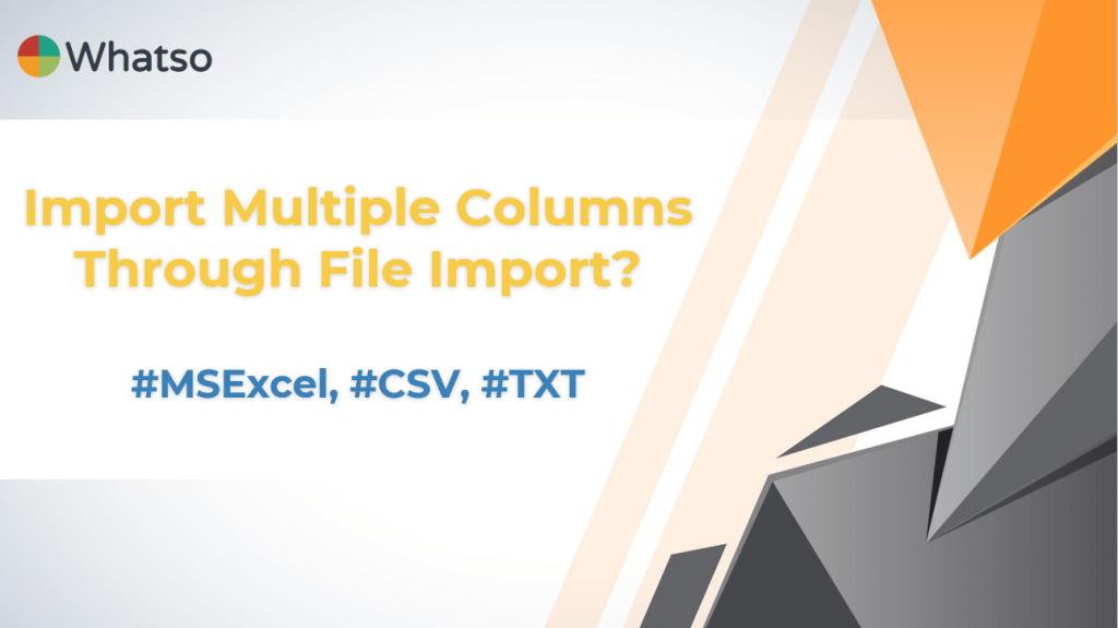 How to Import Multiple Columns Through File Import