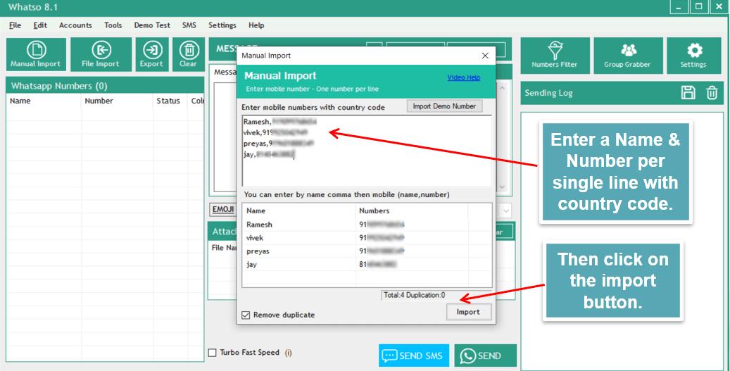 Manual import