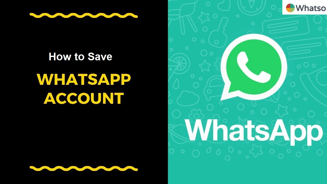 How to save whatso account