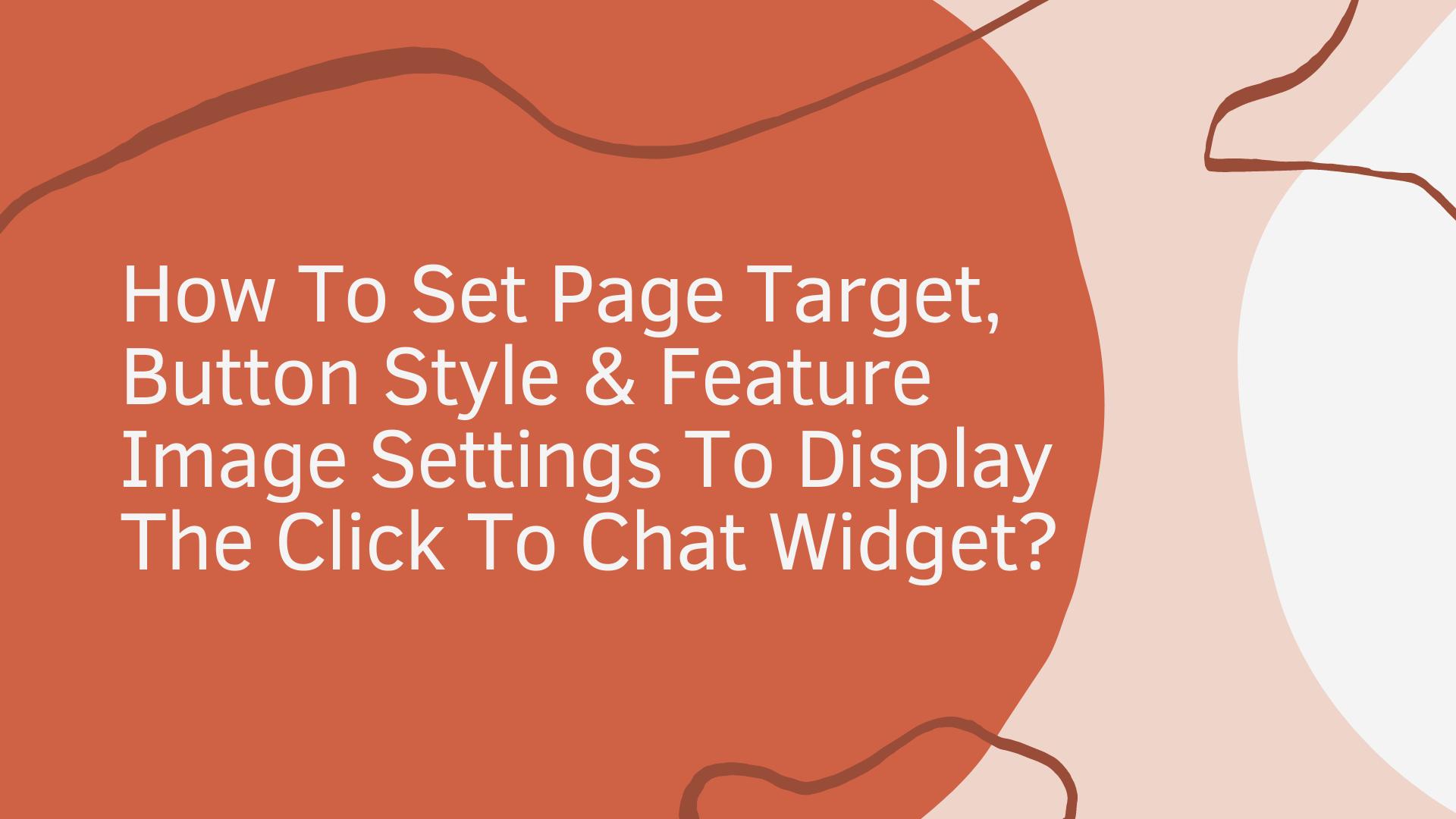 widger settings