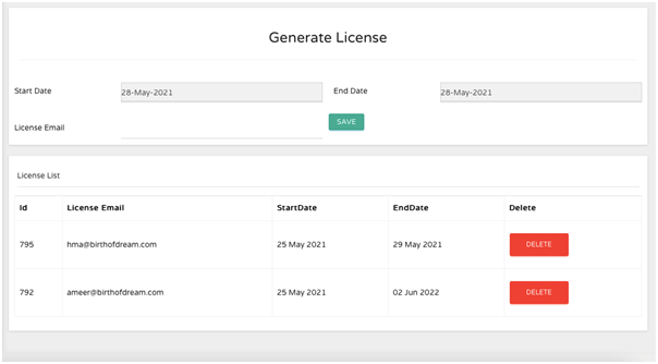 License Validation for Customers